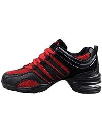 Huatime Zapatillas de Deporte para Mujer Jazz - Suave Ligero Moderno Zapatos  de Baile Malla Superior 4f062743c2d