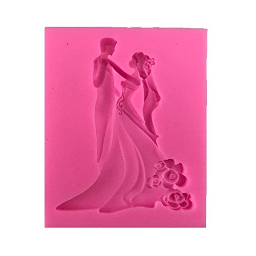 Golden Lank Silikon Dekoration Wedding Chocolate Cake Mould Fondant Backen Sugarcraft das Form Werkzeuge Verziert (Rosa) Mini Wedding Cake Pan