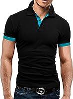 MERISH Poloshirt Hemd Basics T-Shirt 14 Farben Slim Fit 23