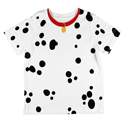Dalmatiner Hund Kostüm roten Kragen auf der ganzen Kleinkind T Shirt Multi 2 (Hund Der Kind Kostüme Dalmatiner)