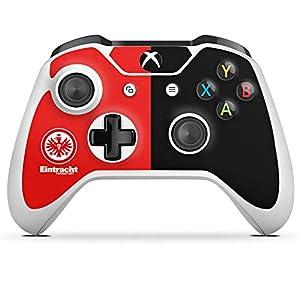 DeinDesign Skin kompatibel mit Microsoft Xbox One S Folie Sticker Eintracht Frankfurt Offizielles Lizenzprodukt SGE