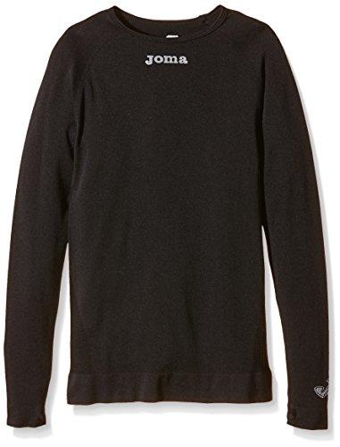Joma Brama Classic - Camiseta térmica de manga larga para niños de 8-10 años, color negro