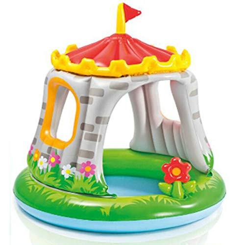 CBWZDJZDS Kinder Freibad Castle Überdacht Baby Pool Castle 122X122Cm