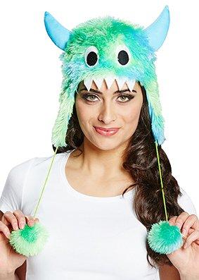 Generique - Fellhut Niedliche Monster in Grün und Blau