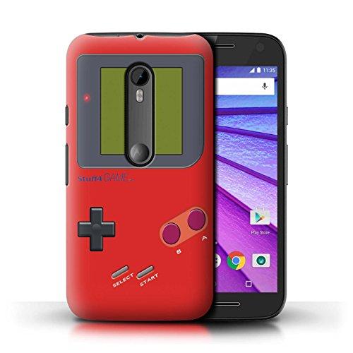 Stuff4® Hülle/Case für Motorola Moto G (2015) / Rot Muster/Videogamer/Gameboy Kollektion - G Motorola Gameboy Case Moto