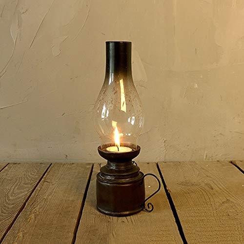 Glas Öl Lampe Schatten (XRYDLL Öllampen Retro Kerosin Lampe Candlestick Harz Ornament Vintage Kerzenhalter Classic Candle Light Dekorative Kerzen Laternen Nostalgie Candle Stick Holder (Design : Style A))