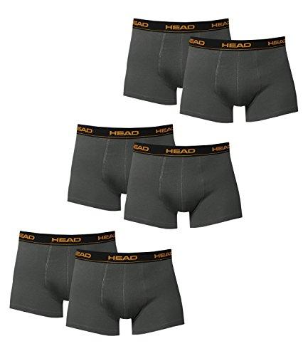 HEAD Herren Boxershorts 841001001 6er Pack, Wäschegröße:M;Artikel:841001001-862 dark shadow