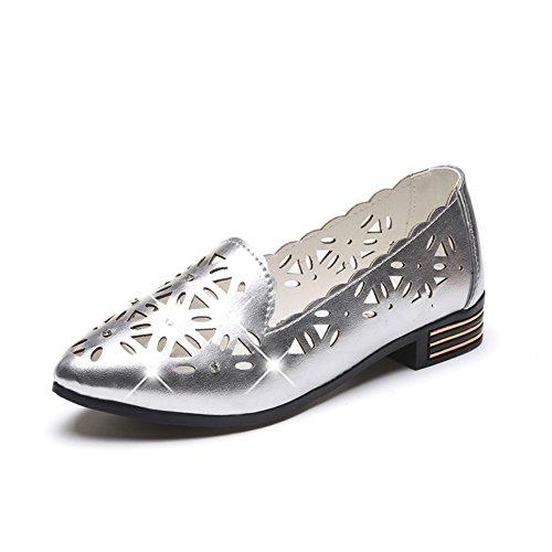 Asakuchi niedrige flache Schuhe im Frühling/literarische durchbohrten Spitzen Schuhe/Wilde lässige Damenschuhe B