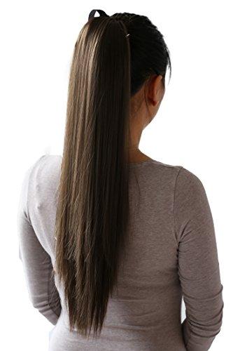 hairpiece Zopf Pferdeschwanz Haarverlängerung 60cm glatt diverse Farben HC7 ()