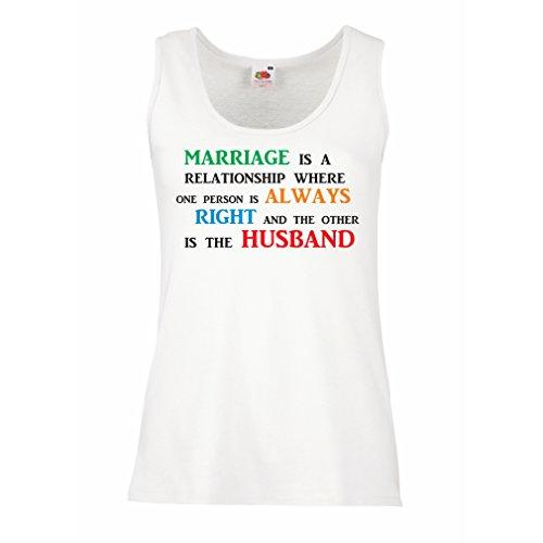 Damen Tank-Top Hochzeitsjubiläum, lustige Ehe wünscht Botschaften (Small Weiß Mehrfarben)