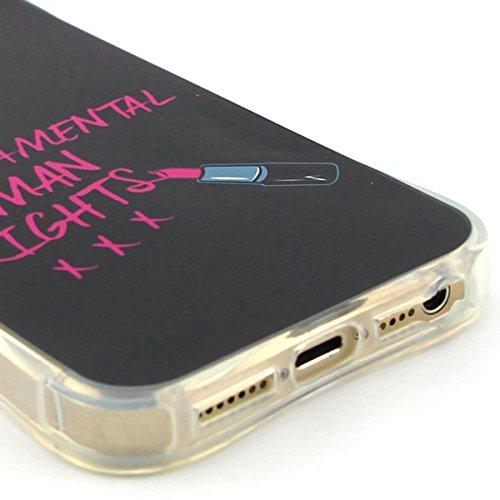 Apple iPhone 5/5S Custodia fit ultra sottile Silicone Morbido Flessibile TPU Gel Shell Custodia Case Cover Protettivo Protettiva Skin Caso Con Stilo Penna - Free to Fly(piuma) lettere rosa