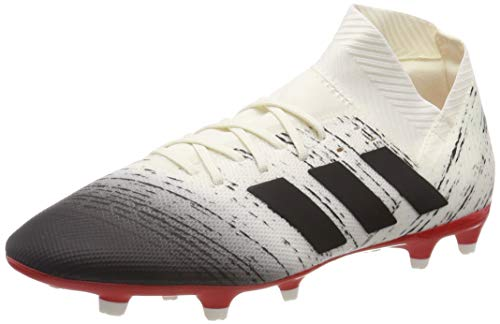 adidas Nemeziz 18.3 FG, Zapatillas de Fútbol para Hombre, Blanco Off White/Core Black/Active Red), 44 EU