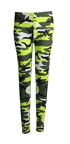 Fast Fashion - Jambières Plus La Taille Camouflage Armée Impression - Femmes Néon Vert