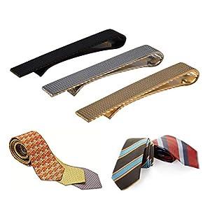 Ballylelly-3 Teile/Satz Männer Edelstahl Mode Krawattenklammer Einfarbig Exquisite Krawatte Krawatte Clips Schmuck-Set Für Unternehmen Regelmäßige Krawatten