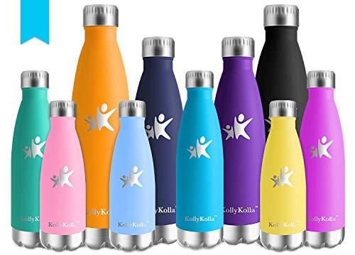 kollykolla bottiglia acqua in acciaio inox, 750ml senza bpa borraccia termica, isolamento sottovuoto a doppia parete, borracce per bambini, scuola, sport, all'aperto, palestra, yoga, blu