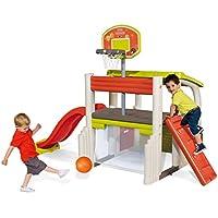 Smoby 840203–Juego de Plein Air–Air juego–Fun Center–Tobogán Multi Actividades