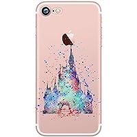 Watercolour Art Princess Disney Hard Cover Case Fits iPhone 5 5S SE 6 6S 7 (iPhone 6S / 6, Disney Castle)