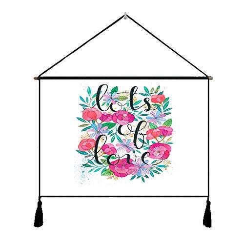 nanih Home chinesische dekorative Gobelin Girlande Stromzähler Box dekorative Leinwand Kunst Malerei Gobelin Baumwolle und Leinen Wohnzimmer Gemälde (Size : C)