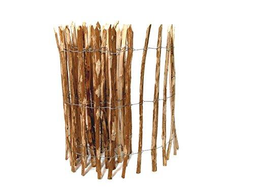 BooGardi Kastanienzaun · Staketenzaun Haselnuss 28 Größen · Rollzaun aus Haselnussholz · Art: englischer Kastanienzaun