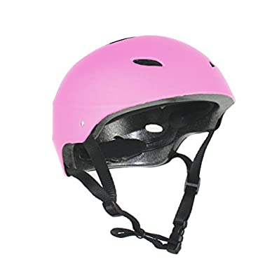 Kids / Childs / Childrens Pink Girls Pro Skate Helmet and Pads Ideal For Skateboard, BMX Bikes and Stunt Scooter Age Guide 7 - 12 years by LA Sports from HI Mark
