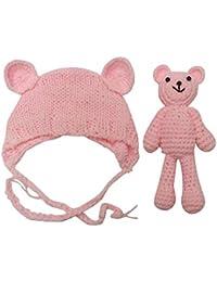 BZLine Nouveau-né bébé Ours tricoté + Chapeau pour la Photographie, Girl  Boy Bonnet 1a9ce065068