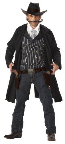 California Costumes Men's Gunfighter,Black/White, Large (Kostüm Pistolera)