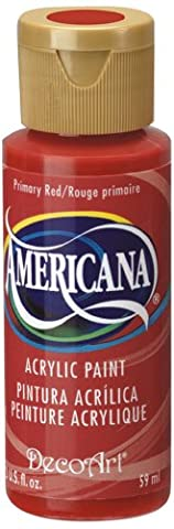 DecoArt Americana 2 oz Acrylic Multi-Purpose Paint, Primary Red
