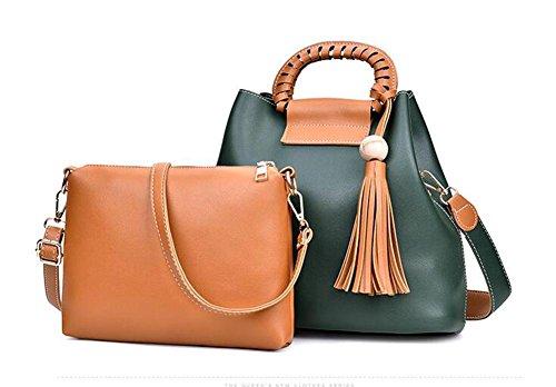 CHAOYANG-borse frange spalla temperamento laptop bag Messenger Immagine , gray ink green