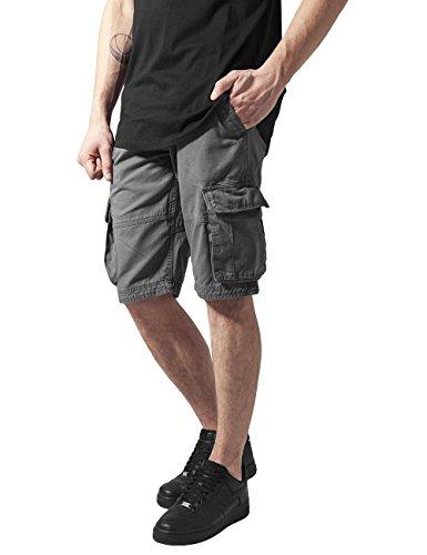 Urban Classics Herren Fitted Cargo Shorts Grau (darkgrey 94)