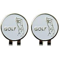 VORCOOL 2pcs marcadores de la Pelota de Golf con Accesorios magnéticos de la aleación al Aire Libre del Clip del Sombrero del Golf