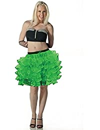 5 Layers Green TuTu Skirt with Ribbon (Approximately 18 Inches Long)