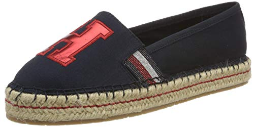 Tommy Hilfiger Damen TH Patch Espadrilles, Blau (Midnight 403), 39 EU -