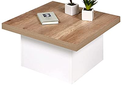 'Happy Alfa-Tische M2538Coffee Table 70x 70cm Wild Oak Plate Pop Up Pattern produced by Alfa-Tische - quick delivery from UK.