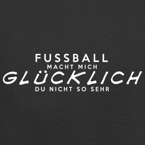 Fussball macht mich glücklich - Damen T-Shirt - 14 Farben Schwarz