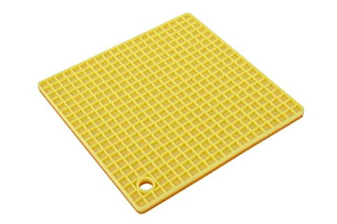 MIU France Silicone Pot Holder or Trivet, Yellow and