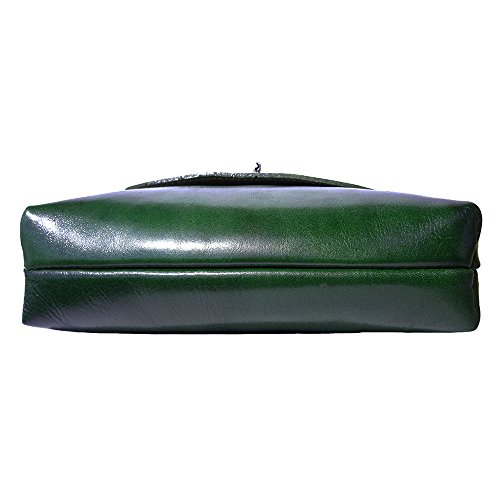 Sac plat moyen en cuir 6546 Vert