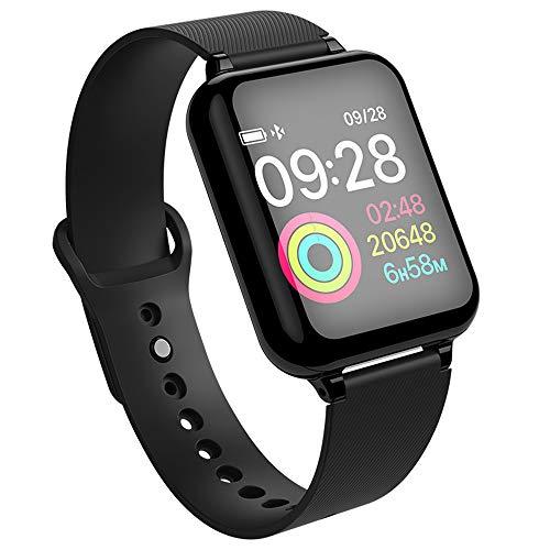 OYJ Intelligentes Armband, B57 Bluetooth Herzfrequenz-Blutdrucksauerstoff-Detektor tragbarer gesunder Farbtouch Screen wasserdicht,B - Ausländische Karte