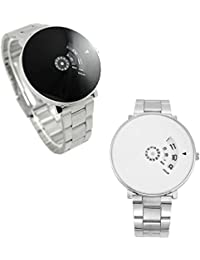 just like Black and White Dial Men's Watch(paidu8820) - Combo Pack