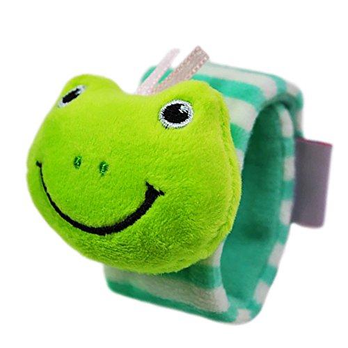 Sonajero pulsera, isuper Baby muñeca Sonajeros motricidad juguete juguetes para bebés de 0a 3años (Rana)