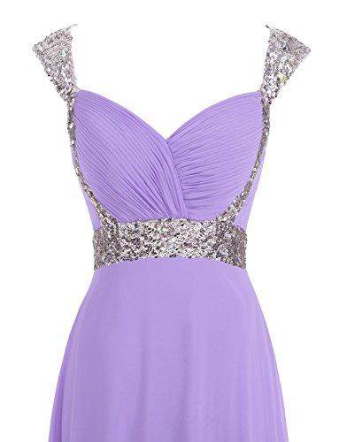 Erosebridal Formal Chiffon Lange Brautjungfernkleider Abendkleid Lavendel