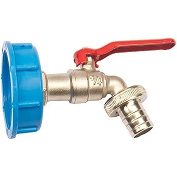 """MIKO® Adapter mit 3/4"""" Auslaufhahn für IBC Regenwassertank"""