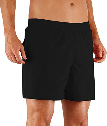 Speedo Solid Leisure Swim Watershorts Quick Dry Herren Schwimmbad Shorts Schwarz