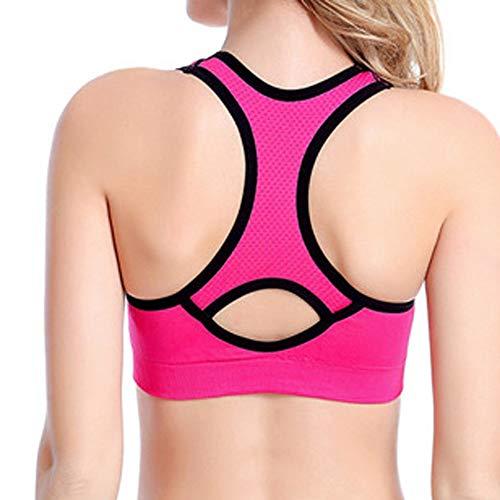 B-commerce Damen Sprot Short Weste - Racerback High Impact Workout Aktivbekleidung BH Yoga Gym T Zurück Tank Tops T ()