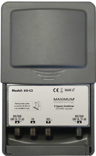 Kjaerulff1 Maximum XO-C3 Combiner 3 Eingänge (UKW, DAB/VHF, UHF) Antennen-combiner