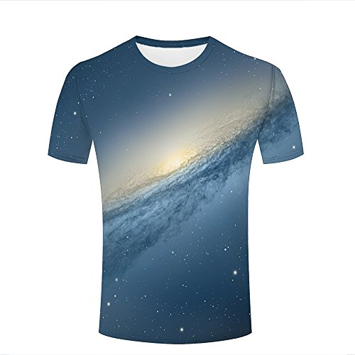 qianyishop Homme 3D Print Cosmic Vortex Graphic T Shirts Couple Tees A