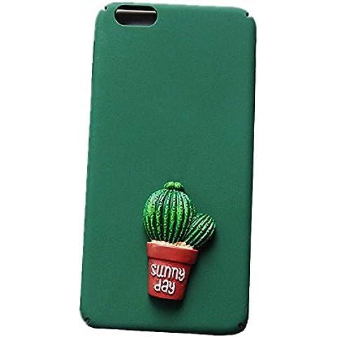 SEDERET 7 Caso iPhone, cassa bella Cactus dimensionale modello rigido di copertura resiliente ultima protezione da cadute e impatti per iPhone 7 (02)