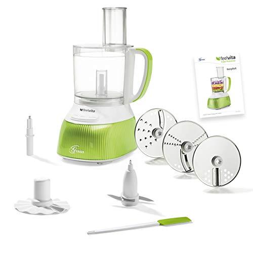 feelvita Genius Feelvita Food Processor   12 Teile   Küchenmaschine   11 Funktionen   Zerkleinerer   Bekannt aus TV   NEU