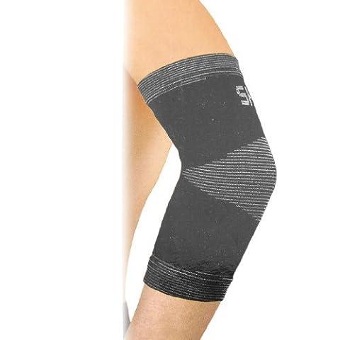 DealMux Spandex Druck Elastic Elbow Arm Support Schwarz Grau für Laufen Jogging (Spandex Elbow)