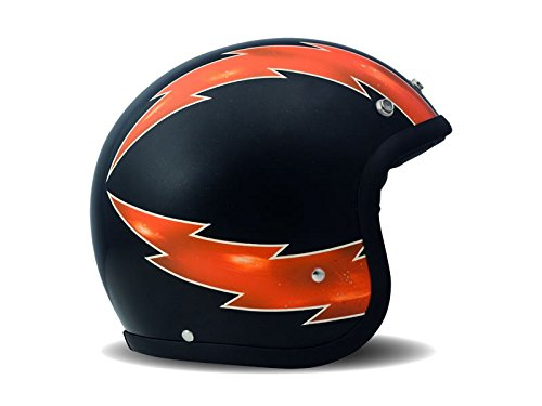 DMD Motorcycle Helmet, Black/Orange, Tamaño M1