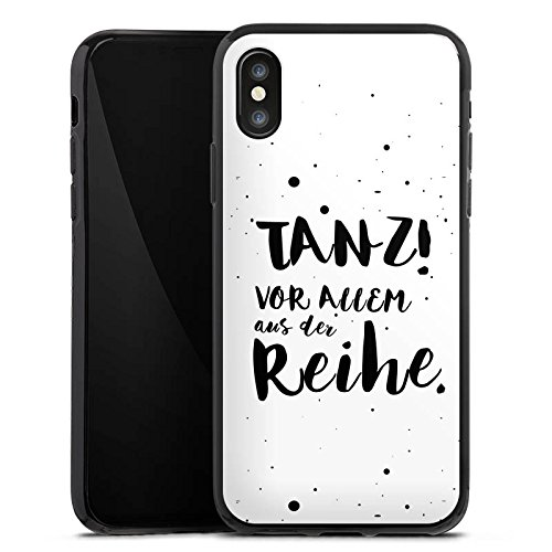 Apple iPhone 6s Hülle Silikon Case Schutz Cover Tanzen Spruch Visual Statements Silikon Case schwarz
